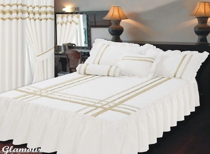 Changingbedrooms Com Superking Size Bed Glamour White Gold