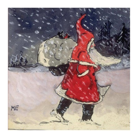 10 Christmas Cards - Dressed for the Cold and snow of the North Pole - drawing by JRR Tolkein 1920