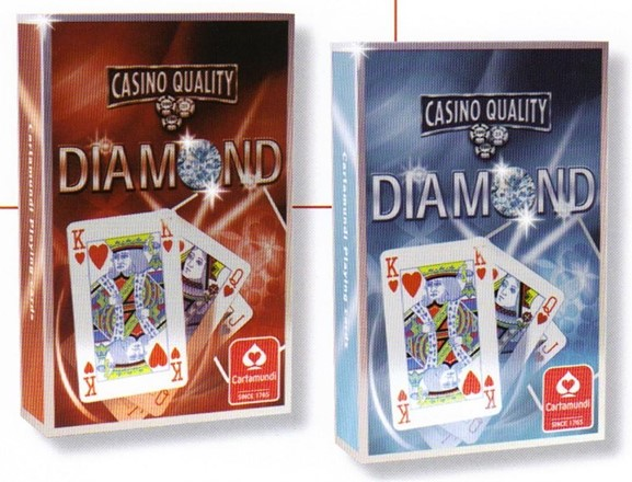 2 packs  - Diamond - Casino Quality Playing cards - Bridge size