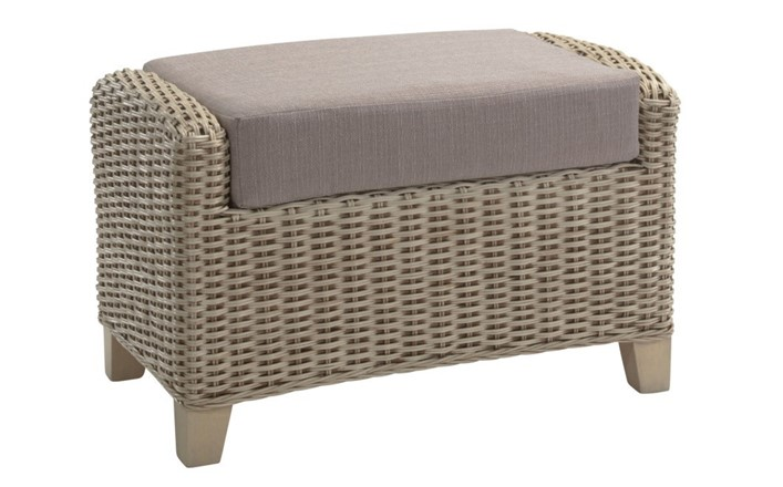Arlington Footstool - Cane Furniture by Desser