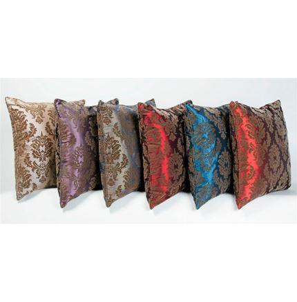 Cushions brown flocking - pangea (43cm)