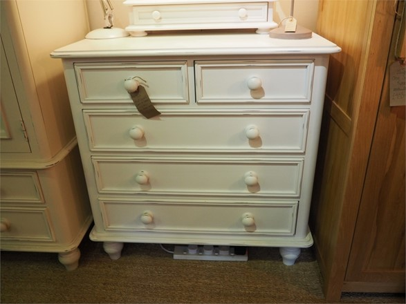 EX DISPLAY OFFER - Ascot 2 Over 3 Chest Of Drawers in Antique White