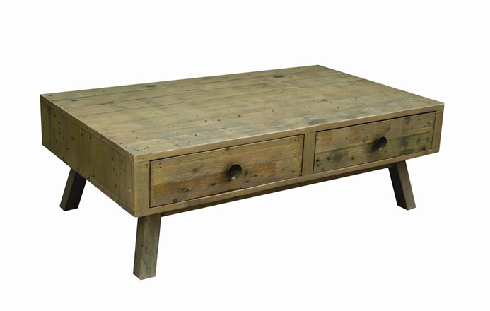 EX DISPLAY - Rustica Coffee table with  double through drawers