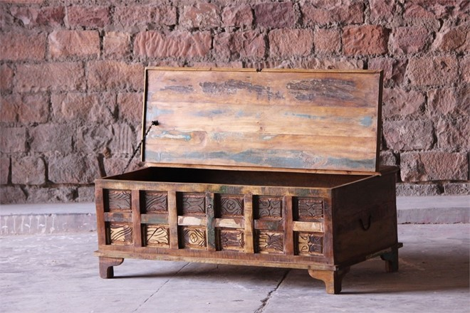 Little Tree Reclaimed Furniture - Aimee Upcycled Trunk Box Coffee Table