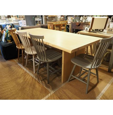 Malmo 210cm Dining Table - now 60% Off - with Spindle back chair offer