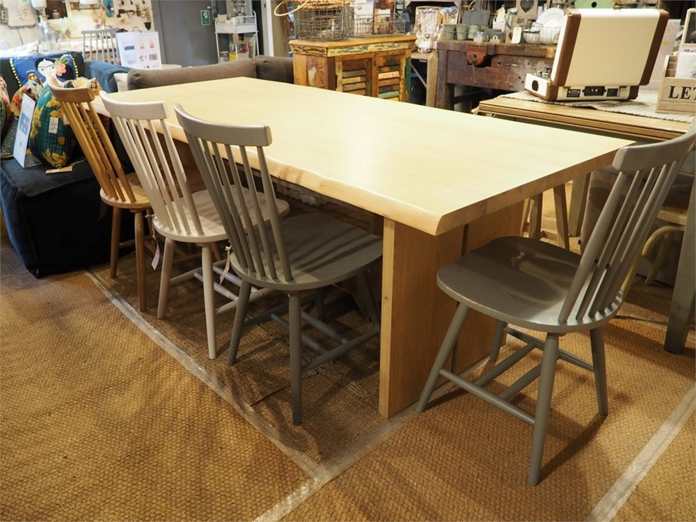 Malmo 210cm Dining Table - now 65% Off - with Spindle back chair offer
