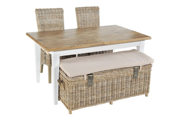 Maya Rattan Storage Bench By Rowico