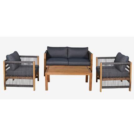 Monterray Garden Conversation 4 pc Set - Outdoor Rattan Furniture
