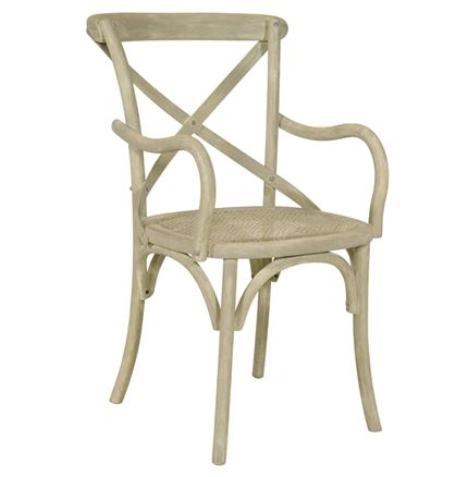 NOW SOLD - Canterbury Cross Back / bent wood Carver Dining Chair - Vintage Sand