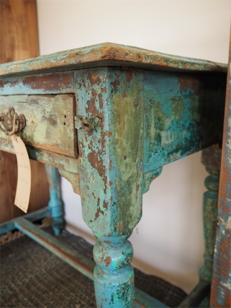 Delicieux ... Desk   Distressed Turquoise Finish Thumbnail P3161046 (Large).