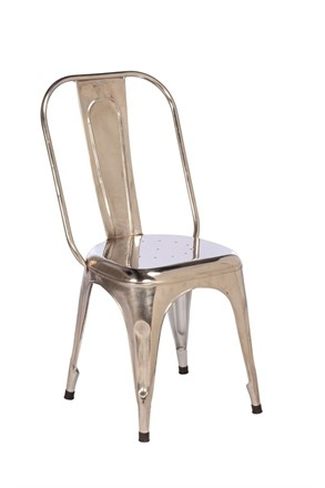 NOW SOLD - TOBY Metal Dining Chair - Chrome