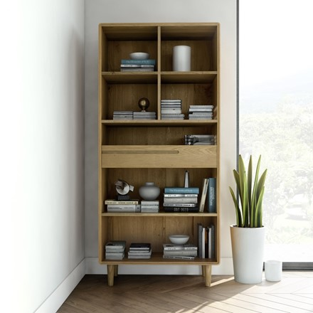 Scandic Large Bookcase - Solid Oak