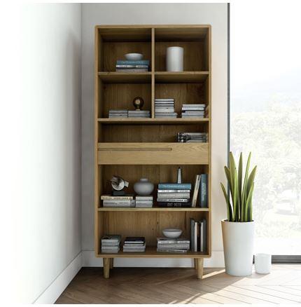 Scandic Large Bookcase - Solid Oak