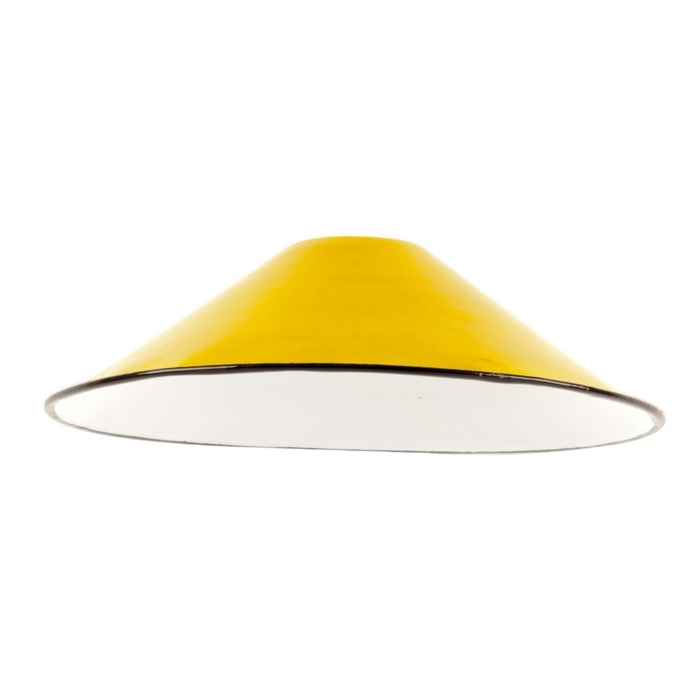 small enamel light lamp shade yellow dia. Black Bedroom Furniture Sets. Home Design Ideas