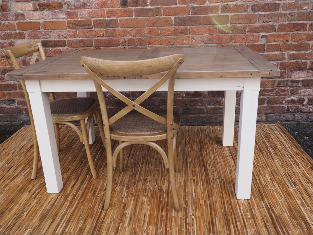 Special Offer - Cintra Extending Dining Table and 6 Cross back Chairs