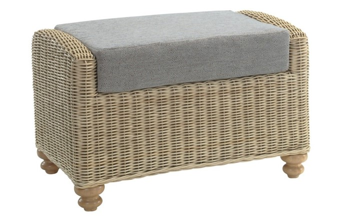 Stamford Footstool - Cane Furniture by Desser