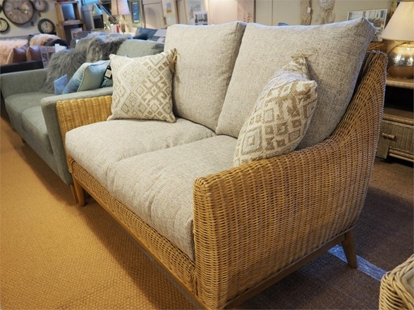 ex display Camden 2 seater sofa - Cane Furniture by Desser