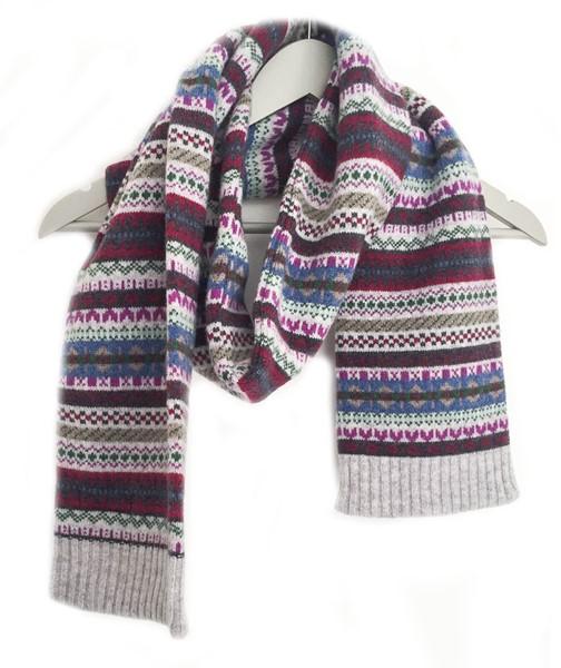 Wool Blanket Online. British made gifts. Ladies Lambswool Fairisle ...