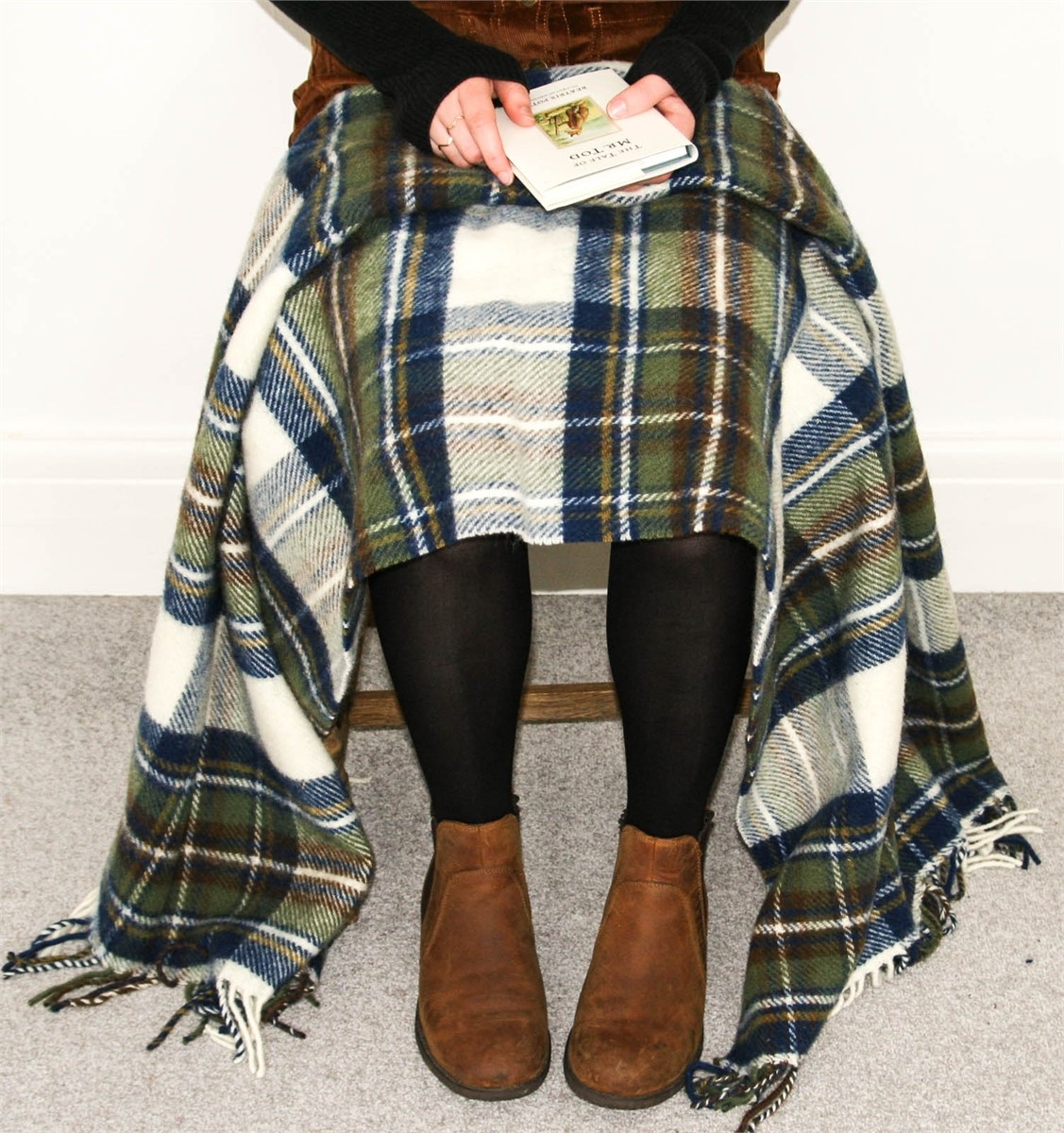 Wool Blanket Online. British Made Gifts. Muted Blue